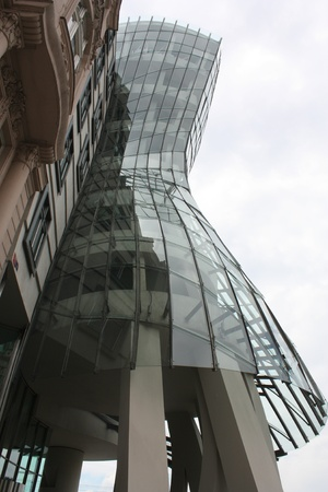 the dancing house: Bailando casa - moderno edificio en Praga. Rep�blica Checa
