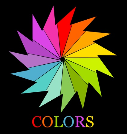 abstract mill: Colorful logo symbol of colors