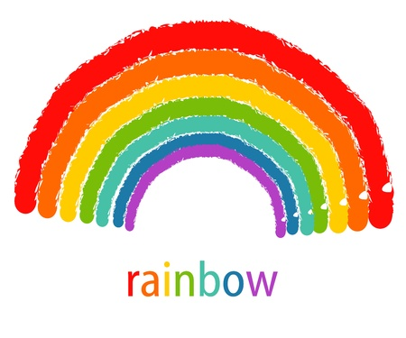 Drawing of rainbow. Vector illustration Stock Vector - 13055203