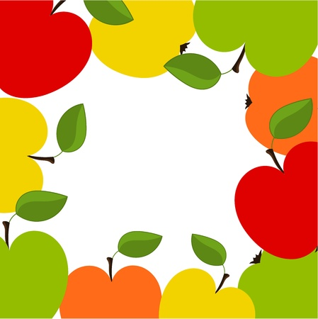 Apple border illustration Vector