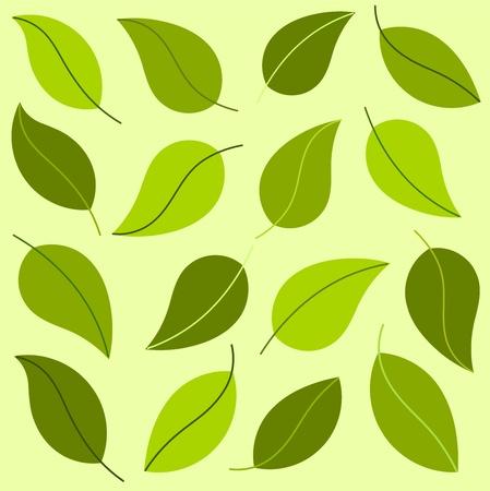 Groene bladeren bakckground. Vector illustratie Vector Illustratie