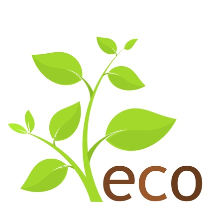 Fresh green plant - environmental eco icon. Vector illustration Stock Vector - 13142442