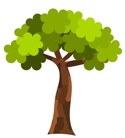 Plane tree. Vector illustration Stock Vector - 13196563