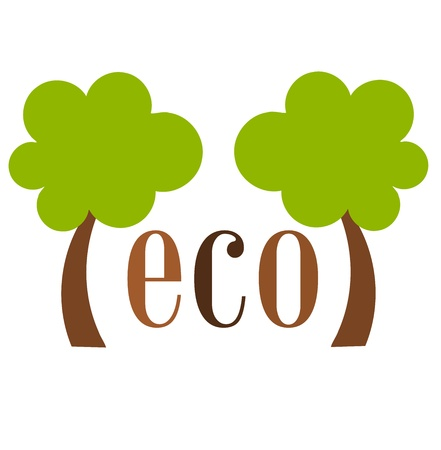 simple life: Eco concept - vector illustration
