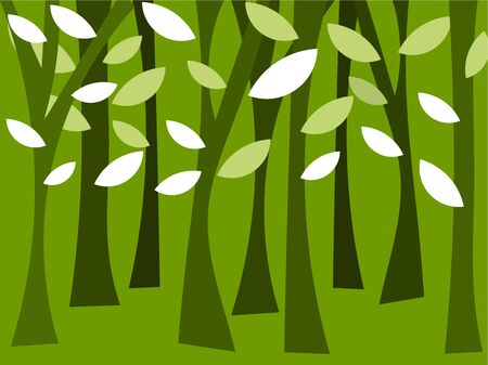 strange: Abstract forest trees. Vector illustration Illustration