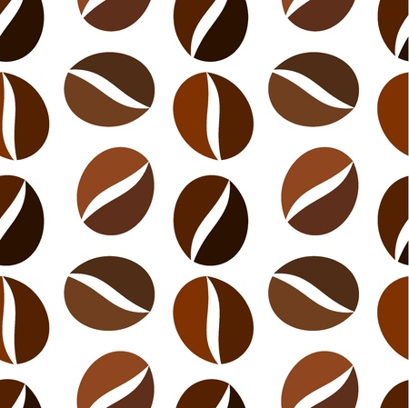 Coffee beans. Seamless pattern Illustration