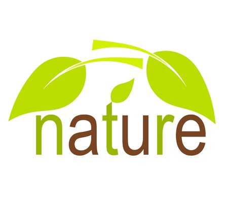 �cologie: Concept de la nature avec des feuilles vertes. Vector illustration