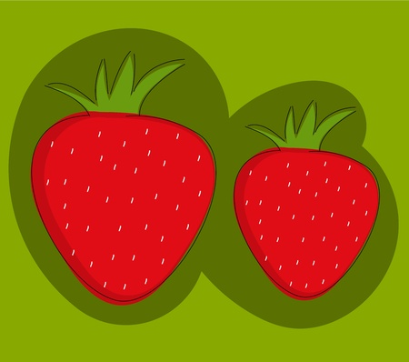 Strawberries - vector illustration Stock Vector - 13196553