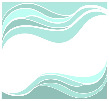 Blue waves vector background