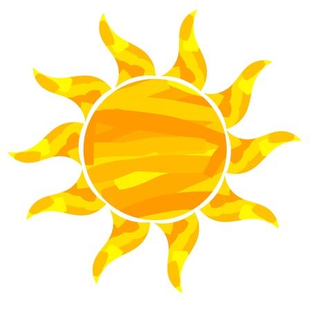 Abstrato do sol pintado Ilustração