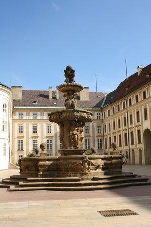 kohl: Kohl Fountain on Prague Castle courtyard Editorial