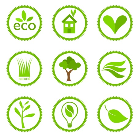 Eco symbols collection. Vector illustration Vector