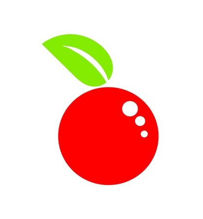 pick light: Symbolic simple red apple fruit Illustration