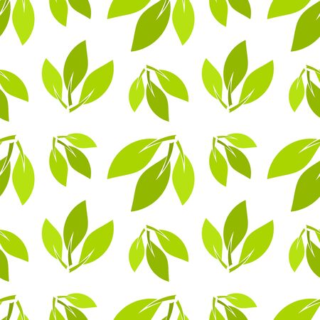 Green leaves seamless texture