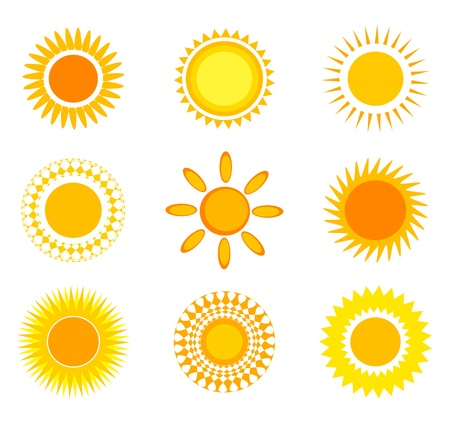 sun clipart: Suns collection. Vector illustration
