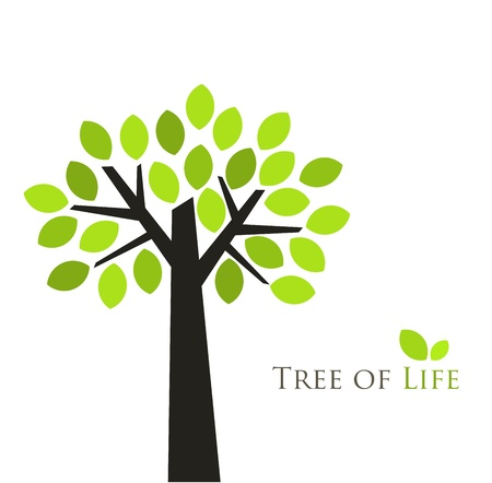 logos design: Tree of life. Vector illustration