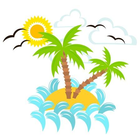 Summer island. Vector illustration Stock Vector - 15027381