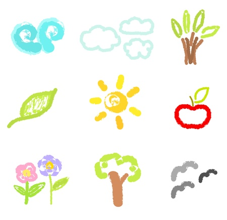 Creative drawings of nature - vector elements for design Stock Vector - 15027390