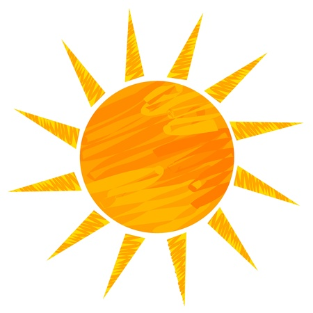 Sun drawing. Vector illustration