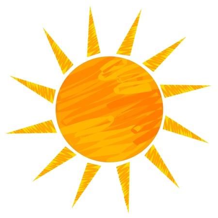 sun vector: Sun drawing. Vector illustration