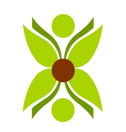 Green plant flower symbol vector illustration Vector