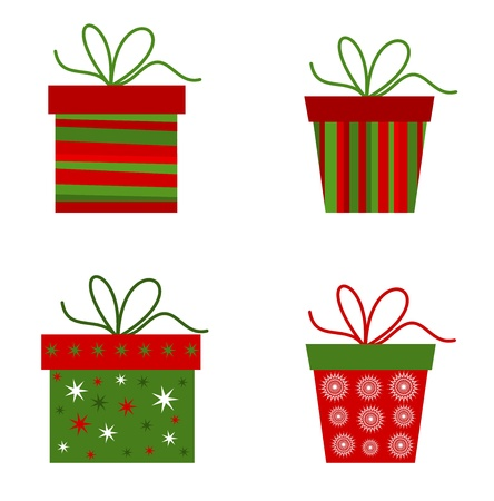 Christmas presents collection. Vector illustration Stock Vector - 15027408