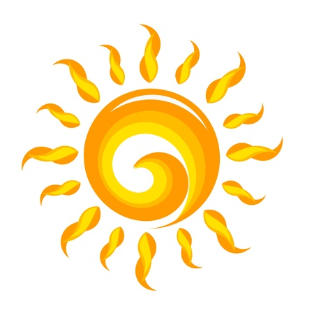 radial: Creative sun illustration. Vector Illustration