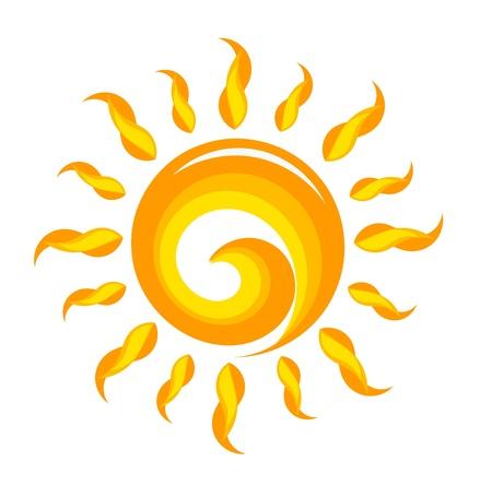 Creative sun illustration. Vector Ilustrace