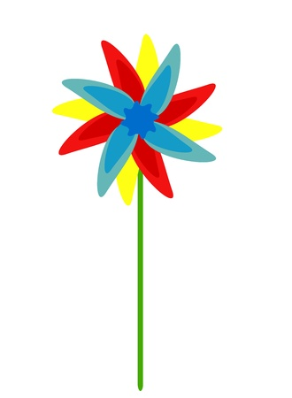 Colorful vector windmill or flower Vector