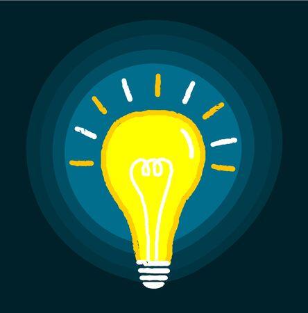 eureka: Light bulb vector illustration