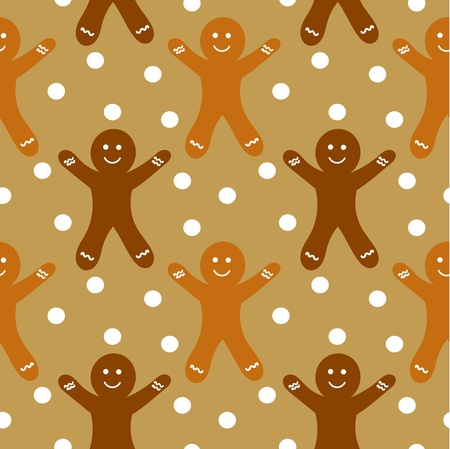 Gingerbread man seamless pattern Vector