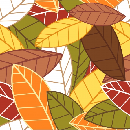 Autumn leaves seamless pattern Stock Vector - 15098430