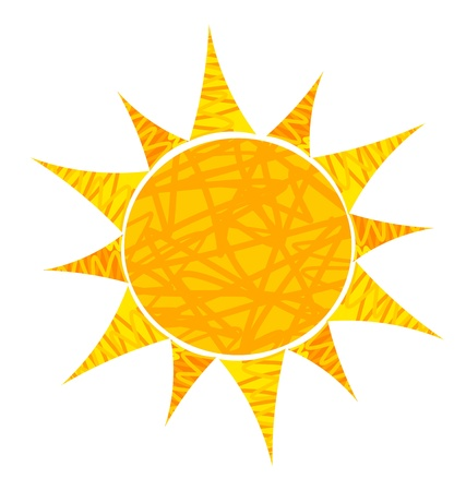 Abstract sun illustration