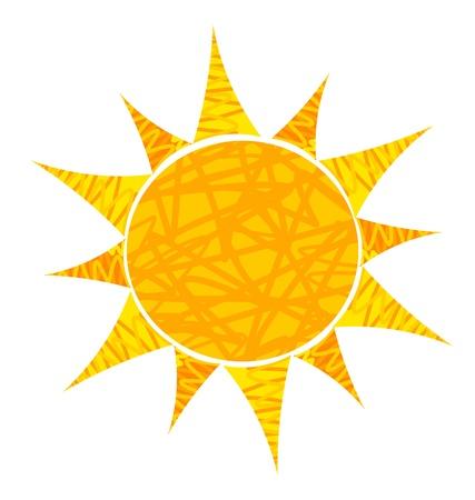 sun flares: Abstract sun illustration