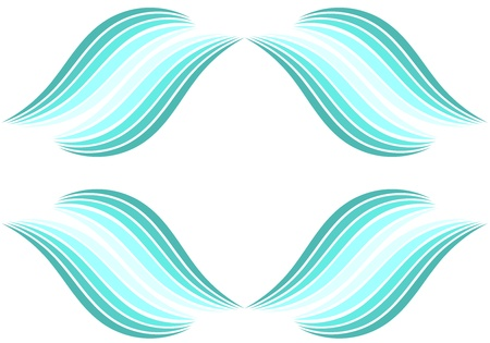 breeze: Abstract water waves background illustration