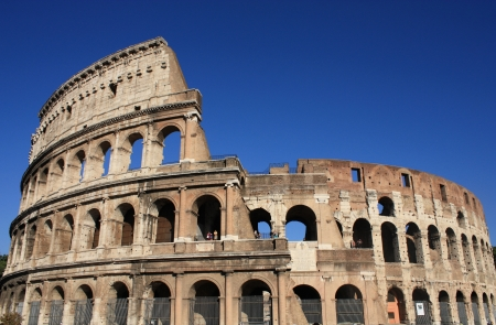 Colosseum in Rome, Italy. Ancient architecture Stock Photo