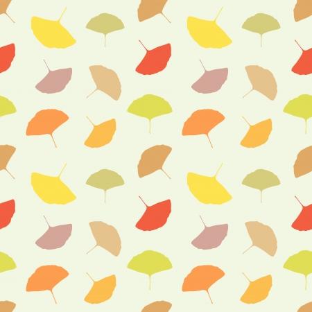 Autumn seamless pattern - Ginkgo biloba leaves Stock Vector - 15809685