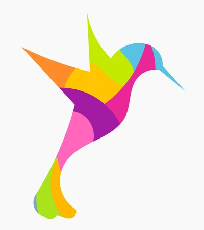Abstract colorful hummingbird Illustration