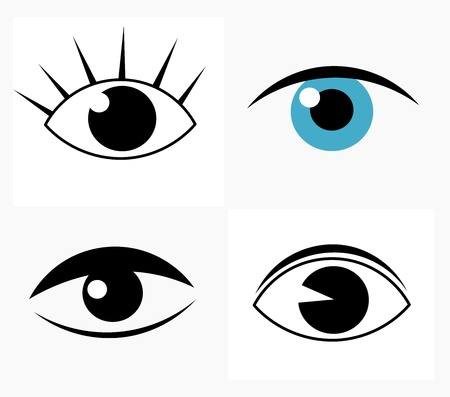 make up eyes: Symbolic abstract eyes