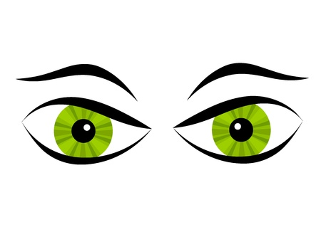 angry look: Bad eyes. Illustration