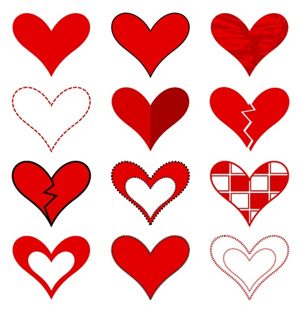 Hearts collection. Stock Vector - 16016006