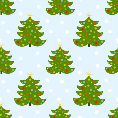 Christmas tree seamless pattern Stock Vector - 16016815