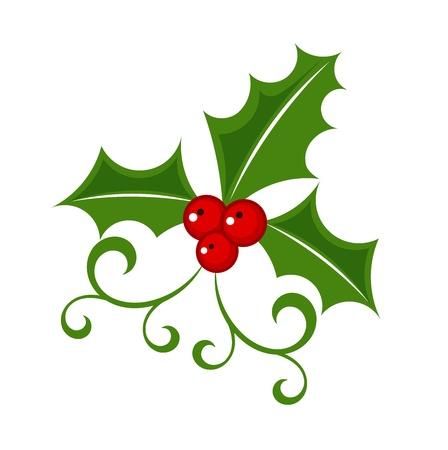 Holly berry - Christmas symbol Vettoriali