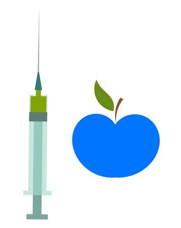Genetically modified food concept Vector