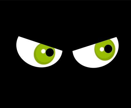 malcontent: Angry green eyes  Halloween