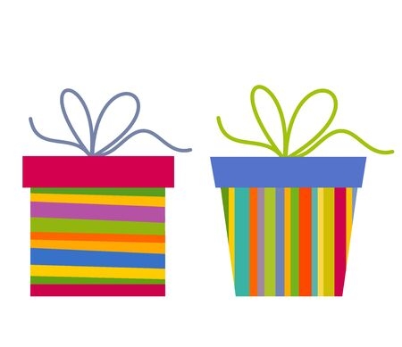 Two colorful presents Vector