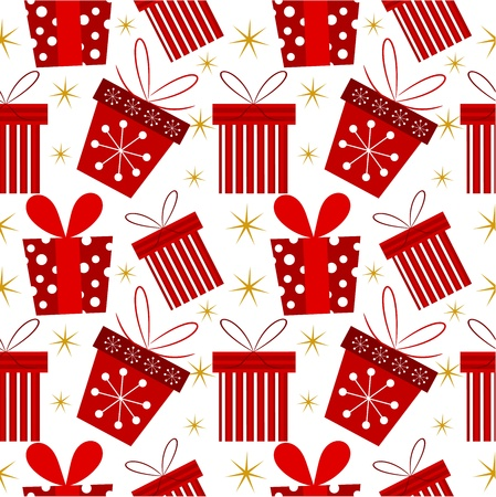 Christmas presents - seamless pattern    Vector