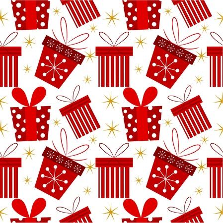 Christmas presents - seamless pattern