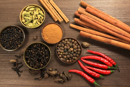 garam: Variety of whole spices