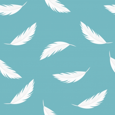 falling feather: Falling feathers - seamless vector pattern Illustration